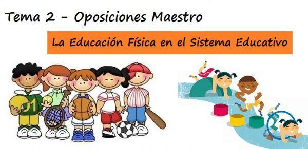 Tema 2 de Oposiciones a Maestro de Educación Física de Primaria