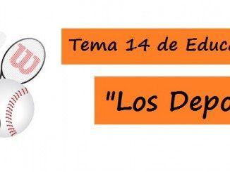 Tema 14 Oposiciones Educación Física