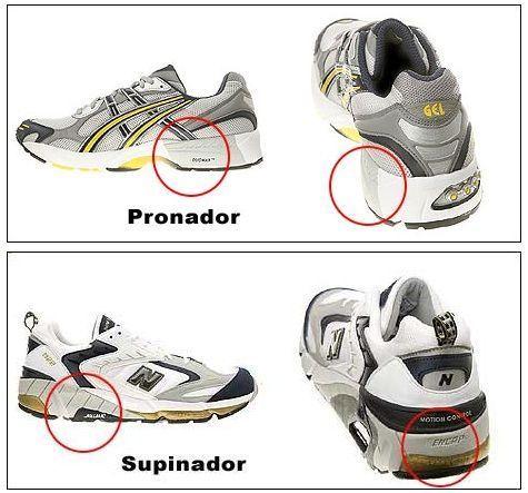 zapatillas para pronador o supinador