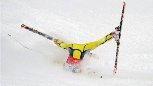 foto esquiando