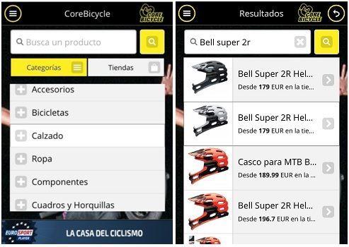 Comparador Material Bicicletas para Movil