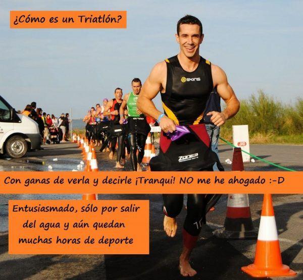 Al salir del agua en el triatlón quieres encontrar a tu familia