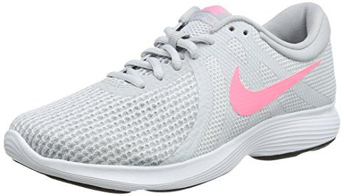 Nike Revolution 4, Zapatillas de Running para Mujer, Gris (Pure Platinum/Sunset Pulse-Wolf Grey 016), 37.5 EU