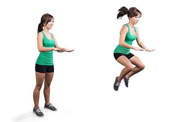 Salto con rodillas al pecho