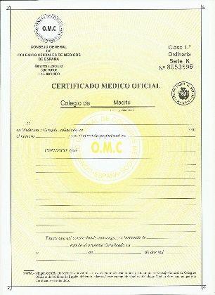 Certificado Medico Para Poder Bucear