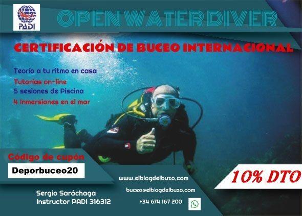 Descuento Certificado Buceo Open Water Diver